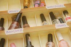 Organize a Large Nail Polish Collection Nail Polish Holder, Nail Polish Storage, Color For Nails, Sugar Nails, Beauty Secrets, Beauty Products, Great Nails, Nail Envy, Nail Supply