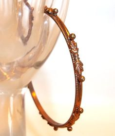 vintage Child Bracelet  small copper plate bangle by dollherup, $6.00