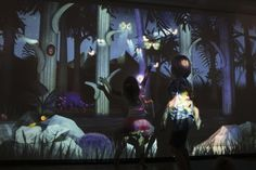 amazing interactive wall for kids (Bumble children's cafe)