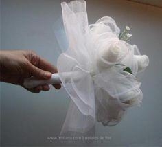 Reproducción de ramo de novia antiguo.Regalo ramo vintage