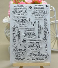 Cheap stamps for scrapbooking, Buy Quality clear stamps directly from China stamp clear Suppliers: Common words 5 stamp Clear Stamp for Scrapbooking Transparent Silicone Rubber DIY Photo Album Decor Diy Album Photo, Diy Photo, Cheap Stamps, Tampons Transparents, Happy Everything, Clear Stickers, Lucky Star, Diy Scrapbook, Scrapbooking