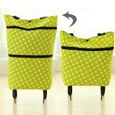 LHLYSGS Brand Women Fashion Trolley Bag Wheels Duffle Luggage Bag Folding  Large Capacity Travel Bags Clothes Organizer Tug Bag 7ff6b6f7493f3