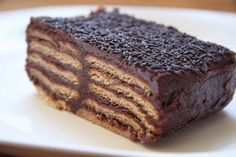 Tarta de galletas y chocolate, la de toda la vida