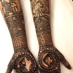 As the time evolved mehndi designs also evolved. Now, women can never think of any occasion without mehndi. Let's check some Karva Chauth mehndi designs. Dulhan Mehndi Designs, Mehandi Designs, Rajasthani Mehndi Designs, Latest Bridal Mehndi Designs, Unique Mehndi Designs, Wedding Mehndi Designs, Beautiful Mehndi Design, Mehndi Designs For Hands, Tattoo Designs