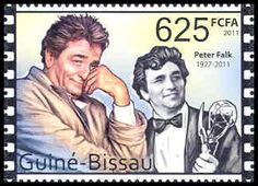 Detective Fiction on Stamps:Colombo Columbo Tv Series, Columbo Peter Falk, Jesse Stone, Tv Detectives, Old Stamps, Stamp Collecting, Postage Stamps, Caricature, Star Wars