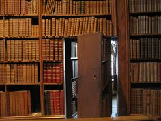 Swinging bookshelves and hidden passages are a must...