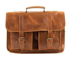 15 inch Laptop Bag from Waxed 100 % Full Grain Leather