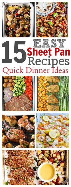 Easy Sheet Pan Recipes for Supper – these recipes will have dinner on the table in no time flat! Everything from chicken to steak turned into a sheet pan recipe! Source by BeckyMans Quick Dinner Recipes, Quick Meals, Weeknight Recipes, Supper Recipes, Side Recipes, Light Recipes, Recipe Sheets, Sheet Pan Suppers, Easy Family Dinners