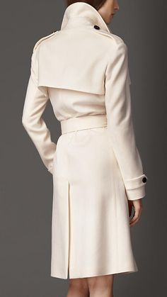 Burberry London Long Double Cashmere Trench Coat