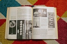 I love all the lighting in this coffee book from the 60s! Isn't it crazy how everything really does come back in style?   www.rappsodyinrooms.com