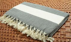 SALE %50 OFF Personalized Chevron Design Turkish Cotton Throw