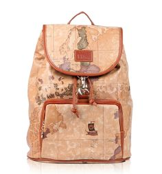 World Map Backpack  Brown Leather Backpack  by photolifestyle, $34.99