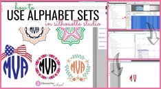 How to Use SVG Alphabet Sets in Silhouette Studio (Monogram Tutorial)
