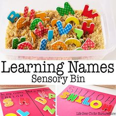 Seasonal sensory tubs ideas for every month of the year - great ideas for sensory play, messy play and hands-on learning.