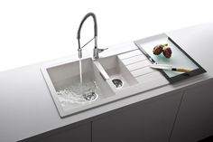 Schock Signus Polaris Cristadur Granite Bowl Sink with Reversible Drainer & Waste Kit - 1000 x Ceramic Kitchen Sinks, Kitchen Taps, Kitchen Layout, Kitchen Design, Kitchen Ideas, Draining Board, Bowl Sink, Sink Taps, Kitchen Mixer