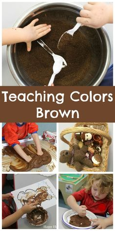Teaching Colors - Brown - Happy Home Fairy Color Activities For Toddlers, Colors For Toddlers, Lesson Plans For Toddlers, Preschool Activities, Teaching Toddlers Colors, Body Preschool, Preschool Curriculum, Preschool Learning, Learning Centers