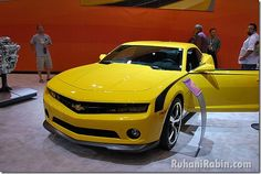 Cars and film go together like Salma Hayek in a bikini, Megan Fox is alive. Here are the hottest cars ever featured in the films. Transformers Bumblebee, Chevrolet Camaro, Hot Cars, Boats, Movies, Design, Ships, Films, Film