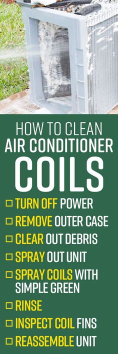 For comfort creatures, warmer weather and air conditioning have gone hand in hand since Willis Carrier invented the modern air conditioner in 1902. But it's definitely not cool when the air conditioner stops working unexpectedly, leaving the entire household in a sweltering scenario. Like any machine, basic cleaning and air conditioner maintenance is necessary for appliance longevity. Air Conditioner Condenser, Clean Air Conditioner, Deep Cleaning Tips, Cleaning Hacks, Bbq Grill Cleaner, Clean Grill, Lazy People, All Purpose Cleaners, Appliance