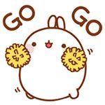 Molang with Pom Pom saying Go, Go Chibi Kawaii, Kawaii Doodles, Cute Chibi, Kawaii Art, Kawaii Anime, Kawaii Drawings, Cute Drawings, Kawaii Crafts, Zentangle