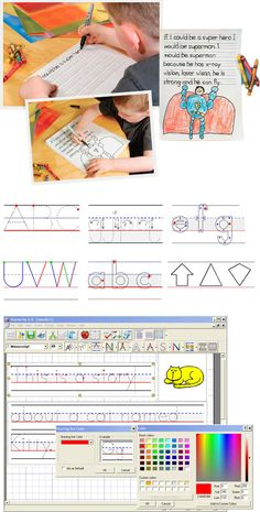 Make your own customized handwriting worksheets!  Helps children learn to write and practice their handwriting, so many uses.