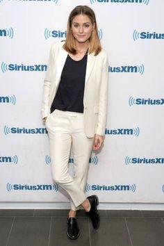 Olivia Palermo At SiriusXM Studios in New York City