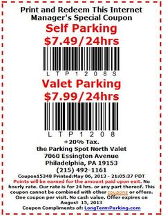 Yvr parking discount coupon