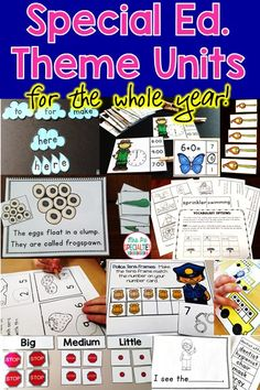 Are you a busy special education teacher? Then look no further!! Thus bundle will save you so much time!!! These theme units are designed for hands on learners that need a high level of practice and visuals in order to learn to read, number concepts, adding, subtracting, telling time, sorting, sequencing, counting, vocabulary, tens frames, science and social studies concepts, holidays and more!!! This bundle saves you money and time!!