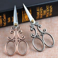 European Vintage Sewing Scissors Cloud Pattern Dressmaker Shears Scissors Antique Scissors Fabric Craft CP0709