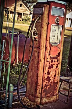 Old gas pumps! Still around after all this time. Southern transportation comes in all forms. From tractors to mules, from trains to boats!