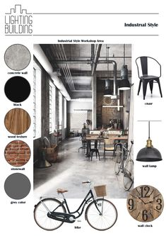 Industrial Style_Moodboard – The World Mood Board Interior, Interior Design Boards, Industrial Interior Design, Industrial Interiors, Interior Styling, Moodboard Interior Design, Presentation Board Design, Interior Design Presentation, Interior Design Portfolios