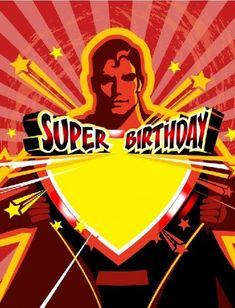 Super Birthday with Superman Graphic