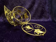 Gold Tone Metal Cornucopia