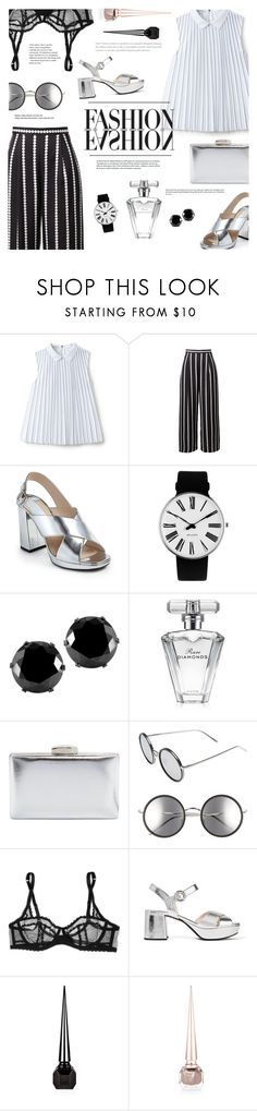 """""""#79"""" by just-a-girl-with-thoughts ❤ liked on Polyvore featuring Lacoste, Prada, Rosendahl, West Coast Jewelry, Avon, La Sera, Linda Farrow, L'Agent By Agent Provocateur, Christian Louboutin and pleats"""