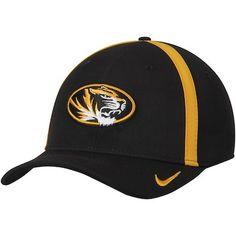 ff6f11c8cf9 Men s Nike Black Missouri Tigers 2017 AeroBill Sideline Swoosh Coaches  Performance Flex Hat