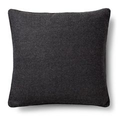 "Herringbone Throw Pillow Dark Grey (18""x18"") - The Industrial Shop™ : Target"