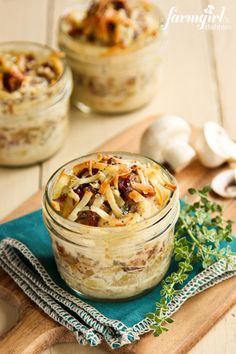 Make-Ahead Individual Potato Gratins with Bacon and Mushrooms