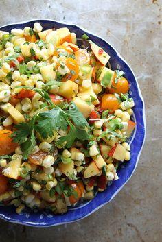 Peach and Corn Salsa by Heather Christo #recipe