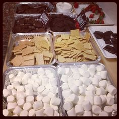 Smores for a night outside wedding idea..