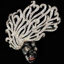 Reja Sterling Pave and Black Enamel Medusa Pin $1750.00