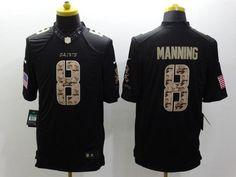 Men 8 Archie Manning Jersey Football Black New Orleans Saints Jersey 01e599cf1