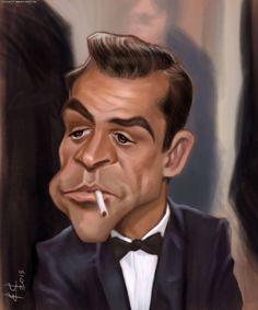 Sean Connery FOLLOW THIS BOARD FOR GREAT CARICATURES OR ANY OF OUR OTHER CARICATURE BOARDS. WE HAVE A FEW SEPERATED BY THINGS LIKE ACTORS, MUSICIANS, POLITICS. SPORTS AND MORE...CHECK 'EM OUT!! Anthony Contorno Sr