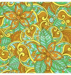 Seamless floral pattern vector by setory on VectorStock®