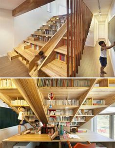 Private playgrounds - 13 extremely fun houses Book staircase, Home theate .- Private playgrounds – 13 extremely fun houses Book staircase, Home theater seating, Diy home decor Private playgrounds – 13 extremely fun houses Book staircase, Home Book Staircase, Stairs, Slide Staircase, Home Decor Furniture, Diy Home Decor, Home Theater Seating, Library Design, Beautiful Architecture, My Dream Home