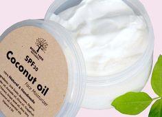 SPF30 Dry skin/Coconut oil Face cream - Natural Handmade Face moisturizer/Cream - Made with Zink Oxide - SkinCare #ZinkOxide #skin #SkinCare #SunProtection #Skincare #face #SPF #Sunscreen #Dry #Cream