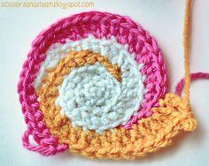 free snail coaster crochet pattern