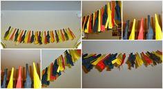 DIY decoratie voor Rode Duivels: slinger gemaakt van papier