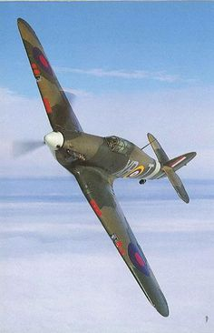 Hawker Hurricane.  Not as pretty as the Spitfire but still claimed more kills in the Battle of Britain.