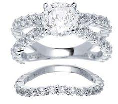 {Epiphany Diamonique 4.50 carat 2 Piece Ring Set}