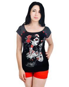 Top Tee Shirt Rockabilly Pin-Up Bolivar Tattoo Mysterious Beauty  http://www.belldandy.fr/top-tee-shirt-rockabilly-pin-up-bolivar-tattoo-mysterious-beauty.html https://www.facebook.com/belldandy.fr/photos/a.338099729399.185032.327001919399/10154140110924400/?type=3