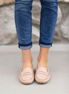 Rachell Parcell - pastel loafers - Tod's Gommino